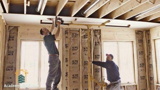 اجرای دیوار خشک یا درای وال drywall