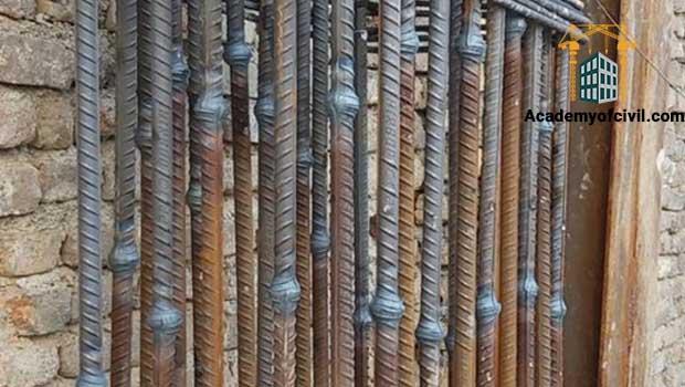 فورجینگ آرماتورهای طولی ستون بتنی