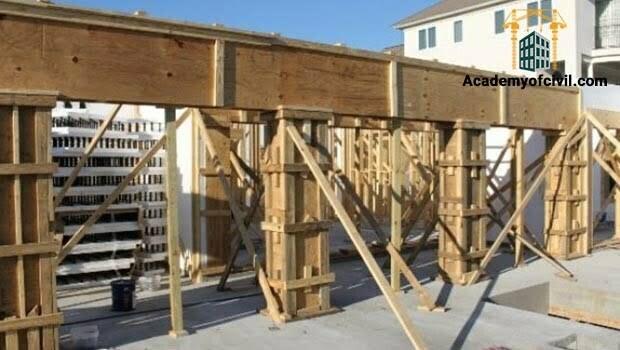 نحوه قالب بندی ستون بتنی و انواع قالب بندی ستون ، قالب چوبی ستون